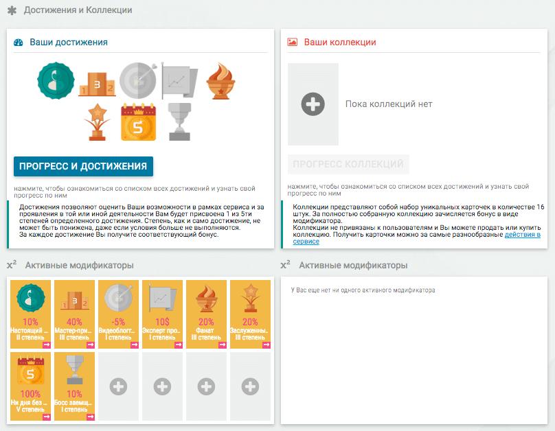 Credex - Достижения и Коллекции