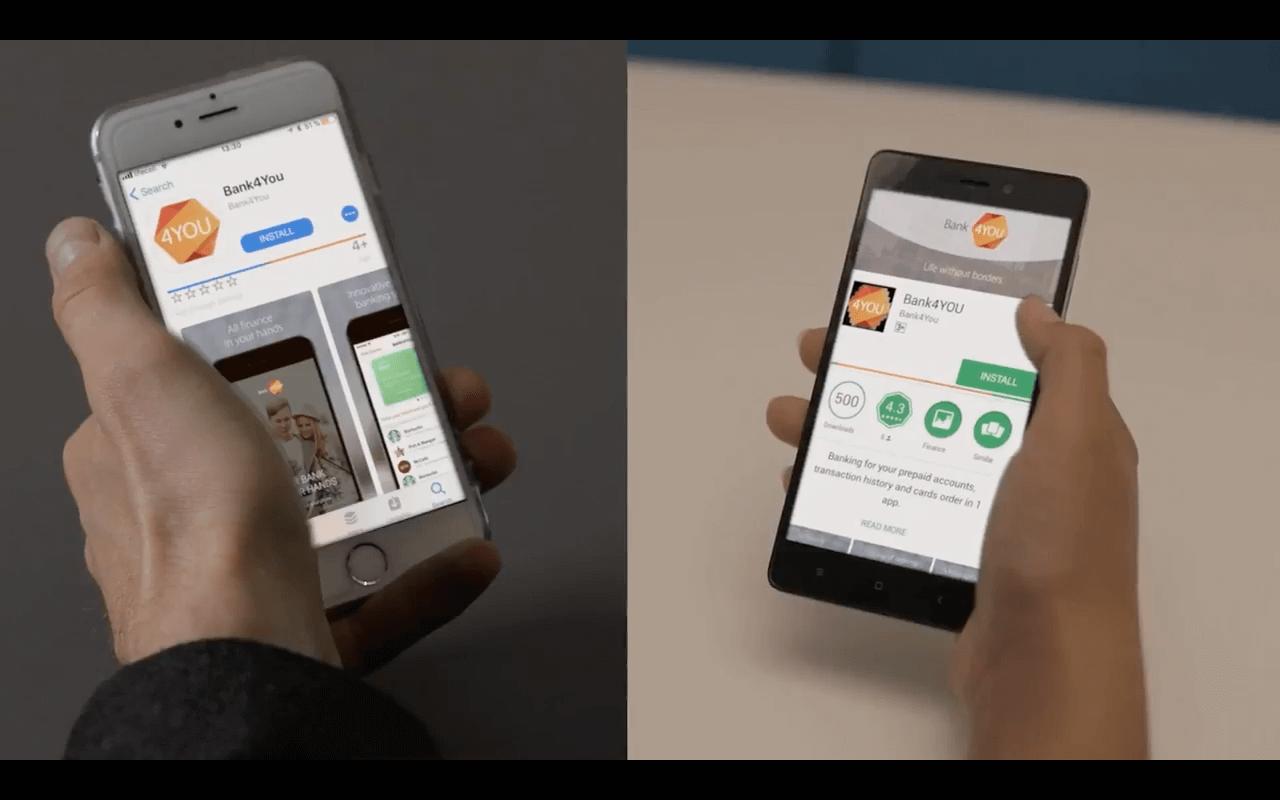 Bank4You - мобильные денежные переводы