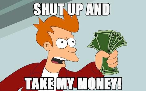 Shut up and take my money - одна из самых распространенных стратегий на рынке хайпов