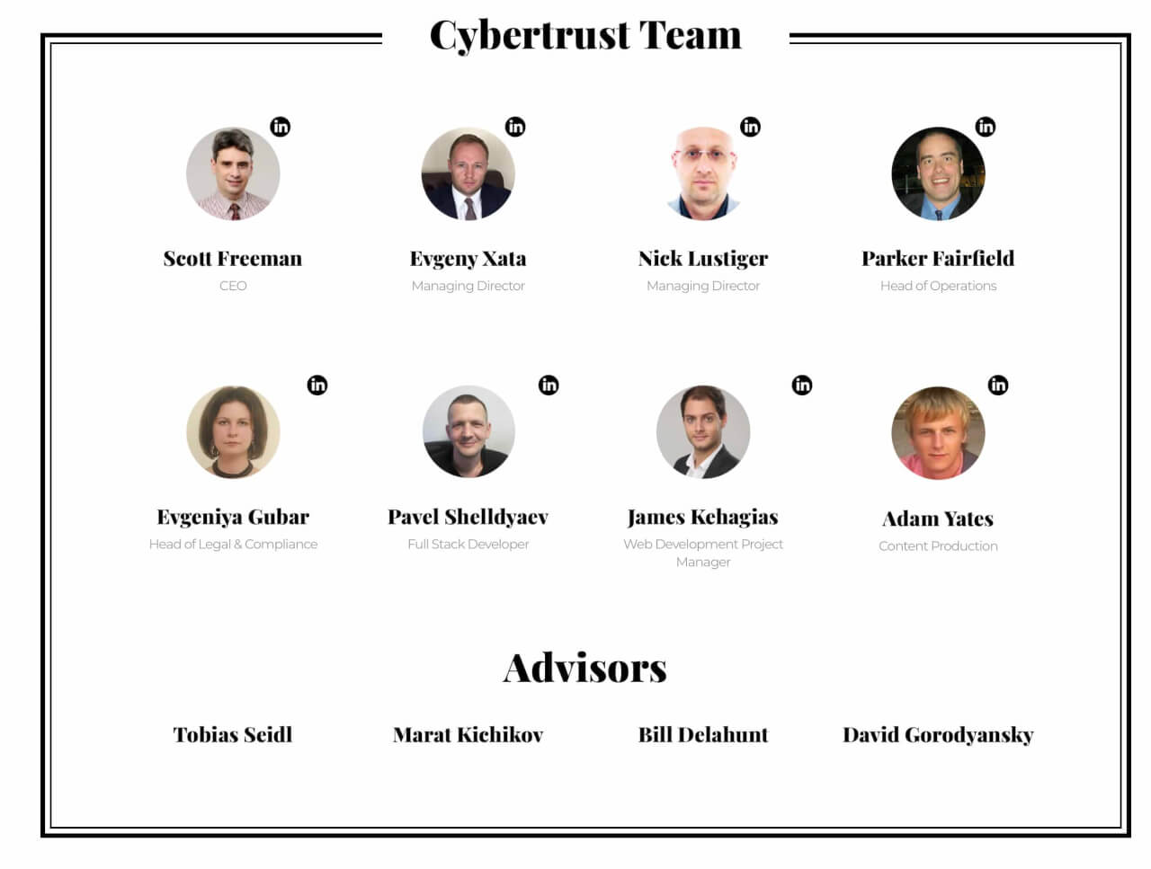 Cybertrust - команда