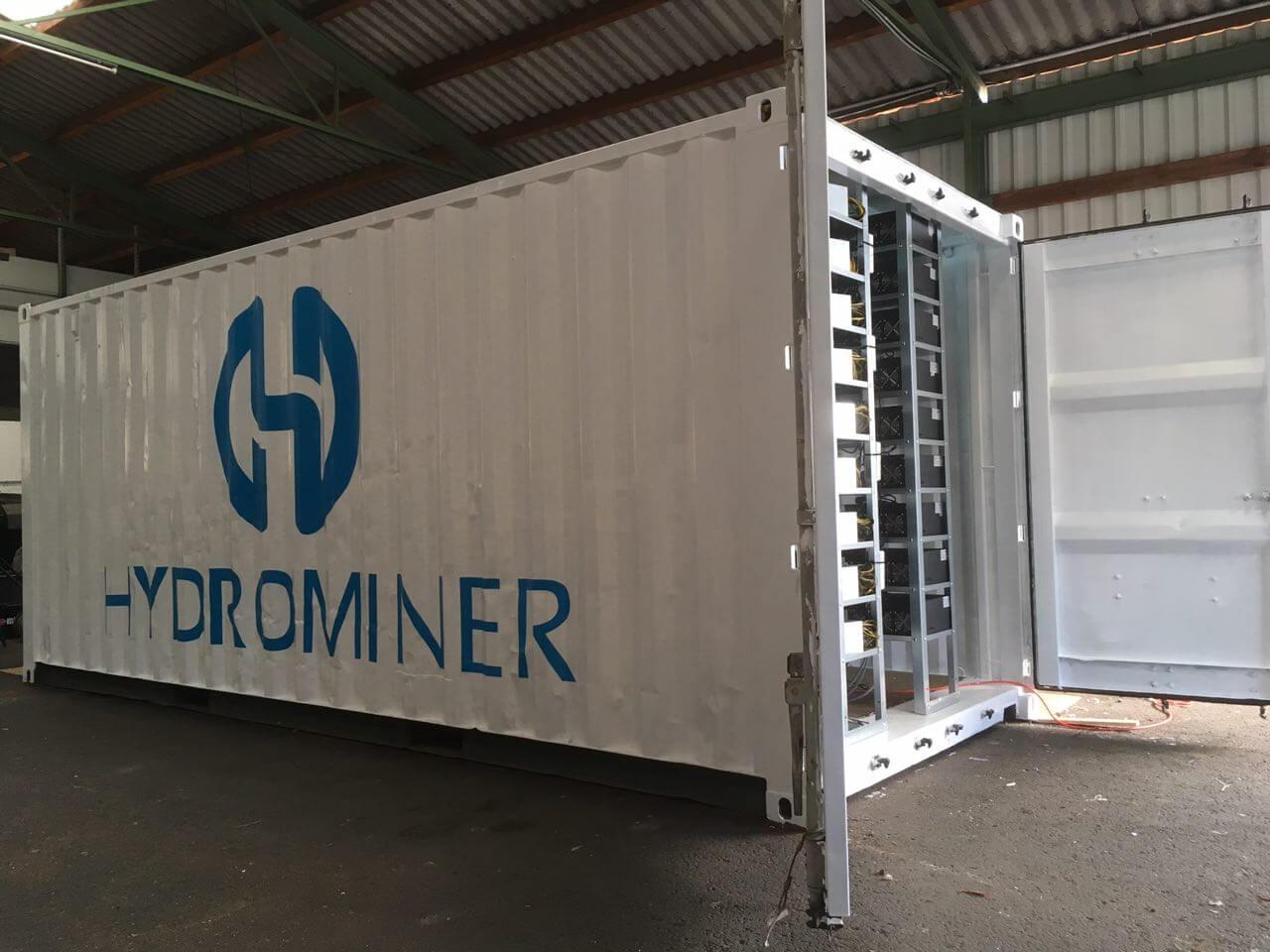 HydroMiner - контейнер-ферма для майнинга