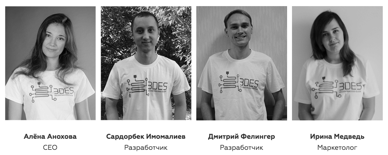 ICO 3DES - Команда проекта