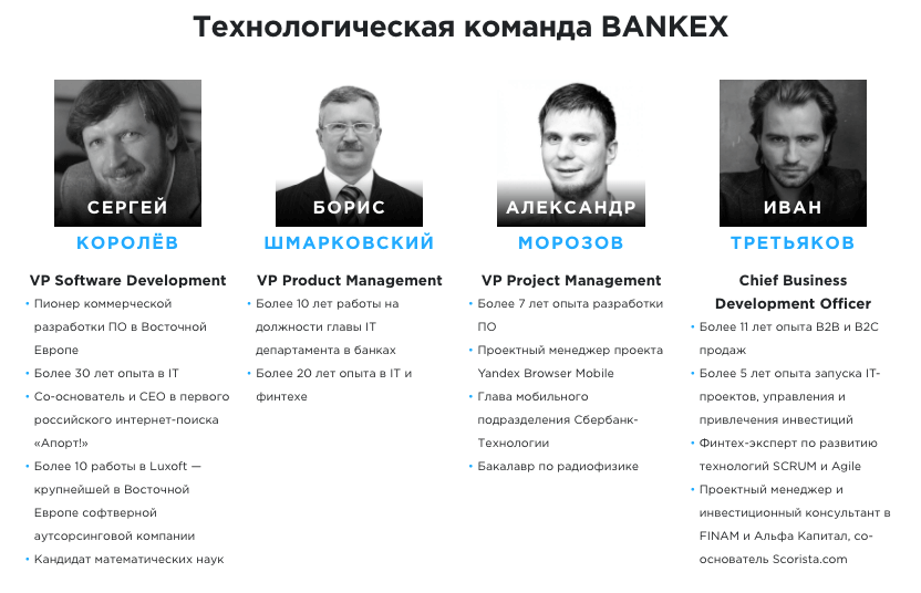 Команда Bankex - Технологическая 1