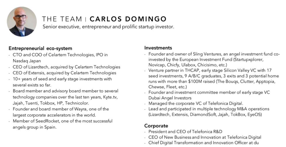 Команда SPICE VC - Carlos Domingo