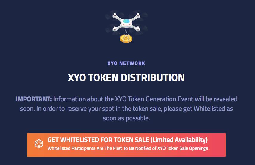 Краудсейл XYO Network