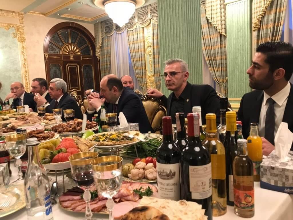 Omnia - ужин с президентом Армении
