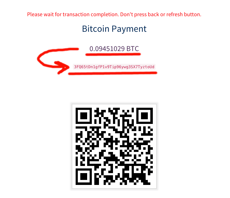 Регистрация в Omnia - Шаг 11 - Оплата пакета через биткоин