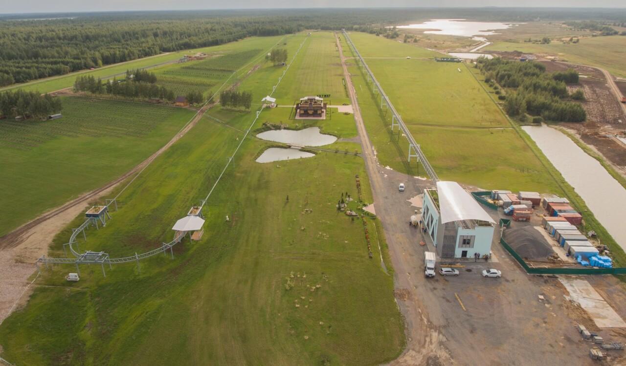 Строительство объектов в ЭкоТехноПарке Скайвэй