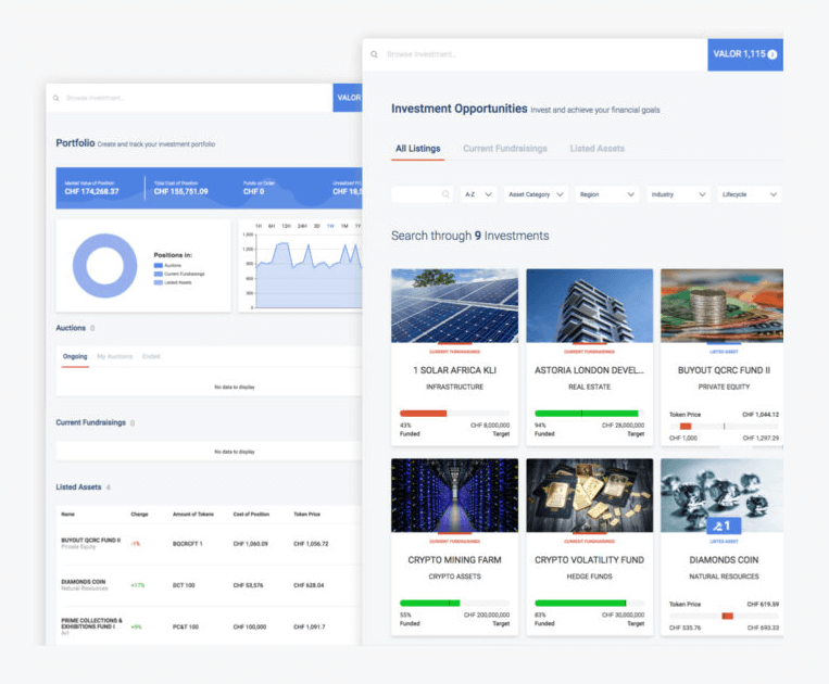 VALOR - это платформа, где можно инвестировать в разнообразные проекты, используя криптовалюту