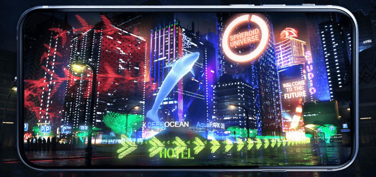 Виртуальная и дополненная реальность в приложении Spheroid Universe